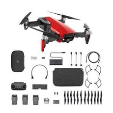 DJI MAVIC AIR FLY - Dron plegable More Combo (Flame Red) estabilizador 4K